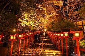 貴船神社 紅葉 ライトアップ
